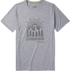 Smartwool Merino Sport 150 Mountain Morning Tee Men Light Gray Heather